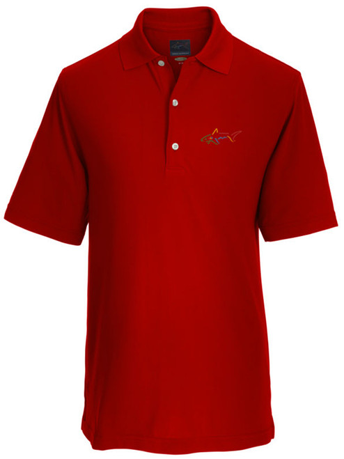 Greg Norman Micro Pique Solid Polo - British Red