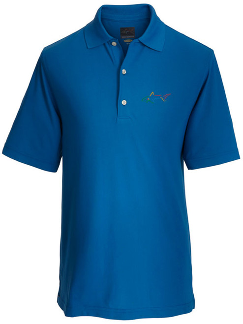 Greg Norman Micro Pique Solid Polo - Maritime