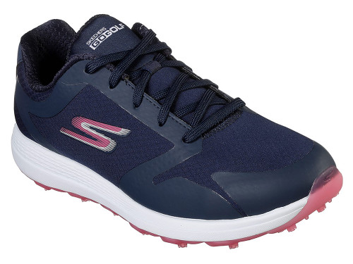 Skechers W Go Golf Eagle Relaxed Fit Golf Shoes - Navy/Pink