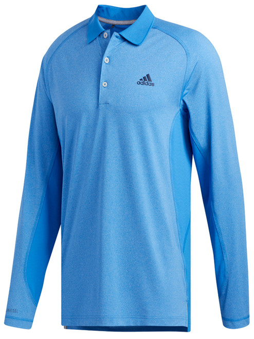 Adidas Ultimate Climacool LS Polo - TMAG Blue Htr/True Blue