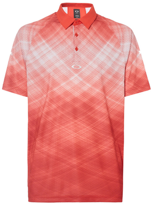 Oakley Barkie Gradient Polo - Fire Red