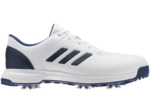 Adidas CP Traxion Golf Shoes - FTWR White/Dk Blue/Silver Met