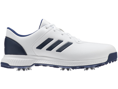 Adidas CP Traxion Golf Shoes - FTWR White/Dk Blue/Silver Met