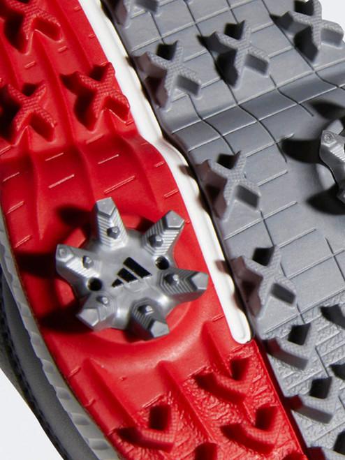 Adidas CP Traxion Golf Shoes - Grey Six/Silver Met/Scarlet