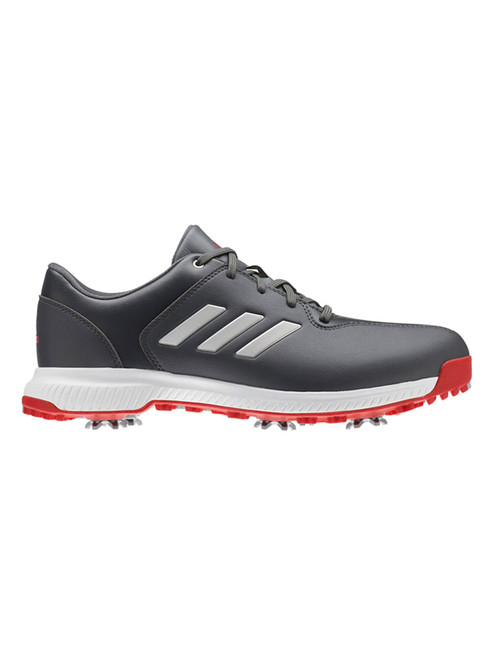 Adidas CP Traxion Golf Shoes - Grey Six/Silver Met/Scarlet