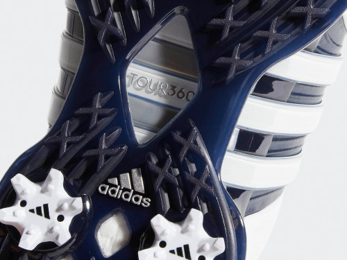 Adidas Tour360 XT Golf Shoes - FTWR White/Navy/Silver Met