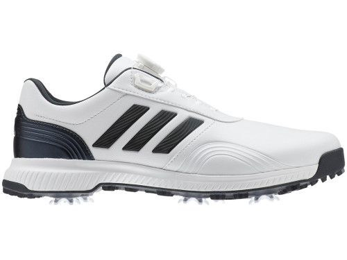 Adidas CP Traxion BOA Golf Shoes - FTWR White/Black Blue