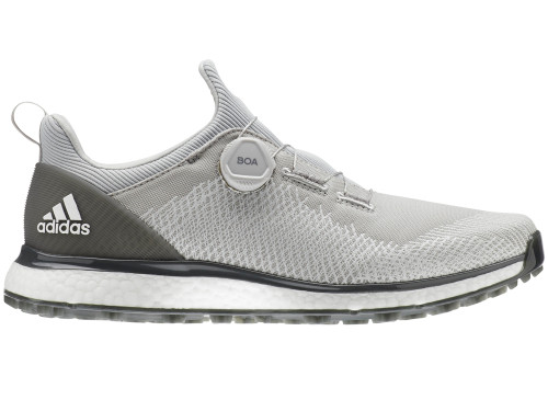 Adidas Forgefiber BOA Golf Shoes - Grey Two/FTWR White