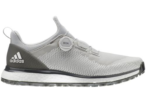 Adidas Forgefiber BOA Golf Shoes - Grey Two/FTWR White