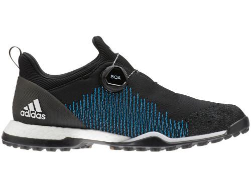 Adidas W Forgefiber BOA Golf Shoes - Core Black/Shock Cyan