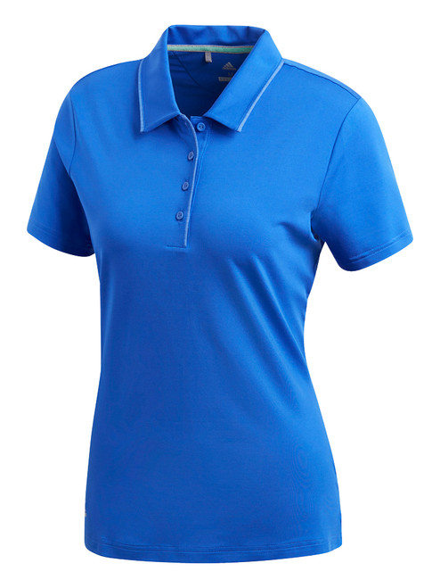 Adidas Ladies Ultimate SS Polo - Hi-Res Blue