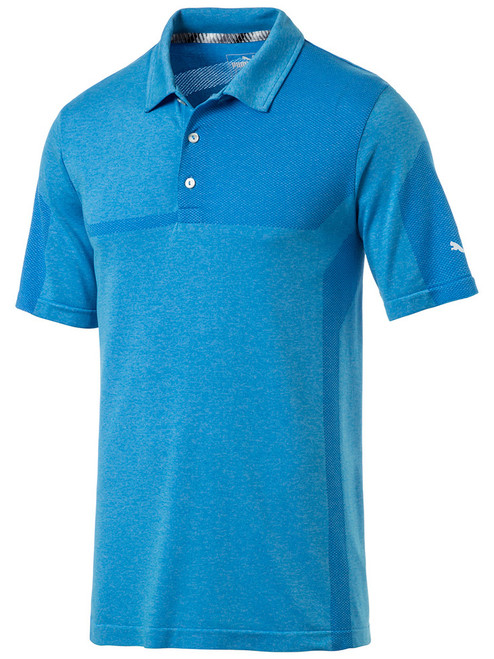 Puma Evoknit Breakers Polo - Blue Azur Heather