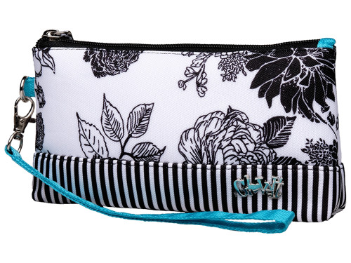 Glove It Wristlet Black & White Rose