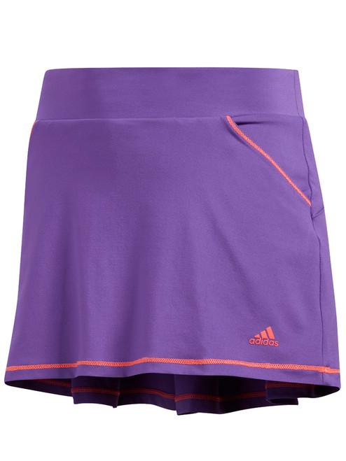 Adidas JR Girls Solid Back Pleat Skort - Active Purple