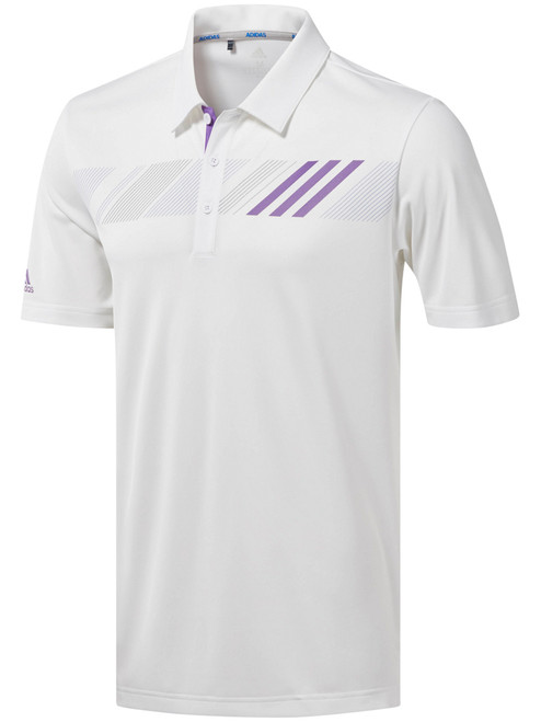Adidas 360 Print Polo - White/Active Purple