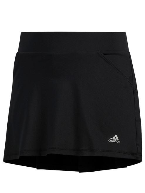Adidas JR Girls Solid Back Pleat Skort - Black