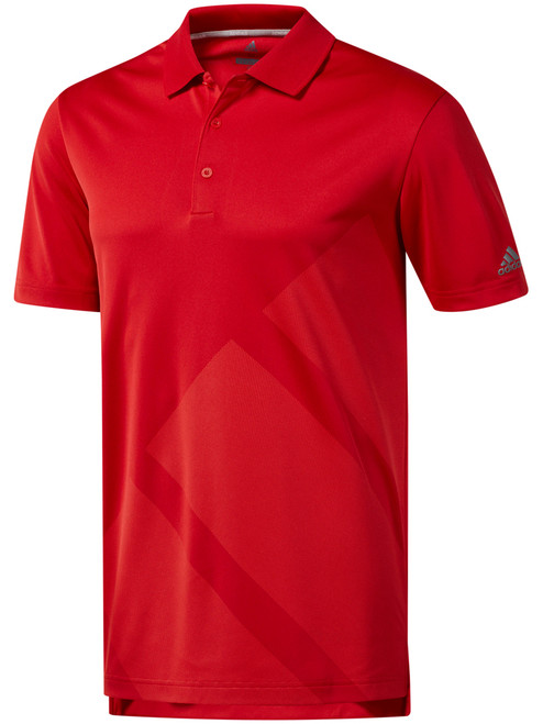 Adidas Bold 3-Stripes Polo - Collegiate Red/Grey Three F17