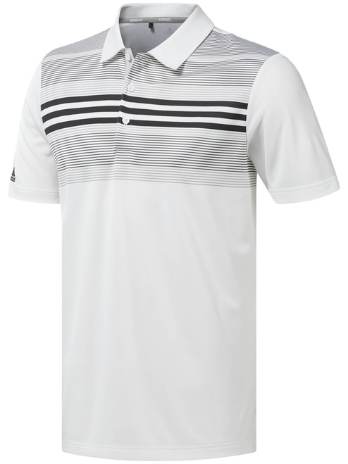 Adidas Bold Sport Polo - White/Black/Carbon