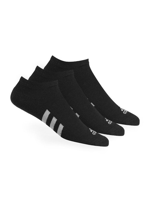 Adidas 3 Pack No-Show Socks - Black
