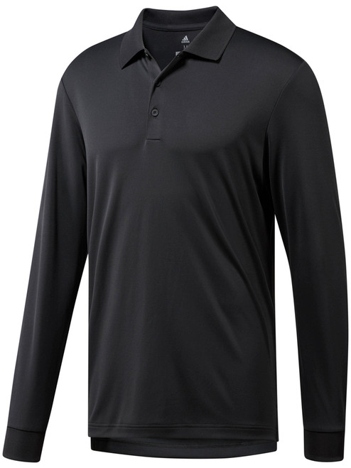 Adidas Essentials Long Sleeve Polo - Carbon