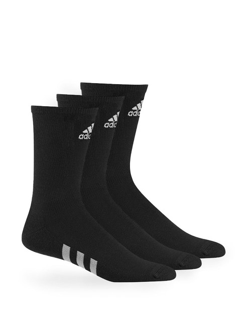 Adidas 3 Pack Crew Socks - Black
