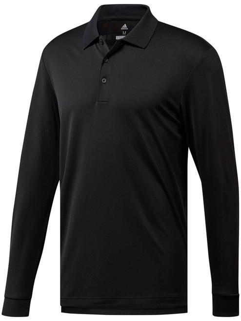 Adidas Essentials Long Sleeve Polo - Black