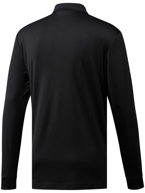 Adidas Essentials Long Sleeve Polo - Black