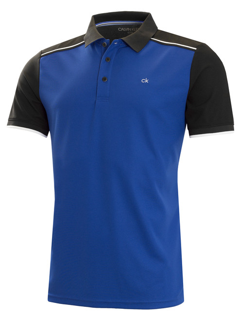 Calvin Klein Radius Polo - Royal/Black