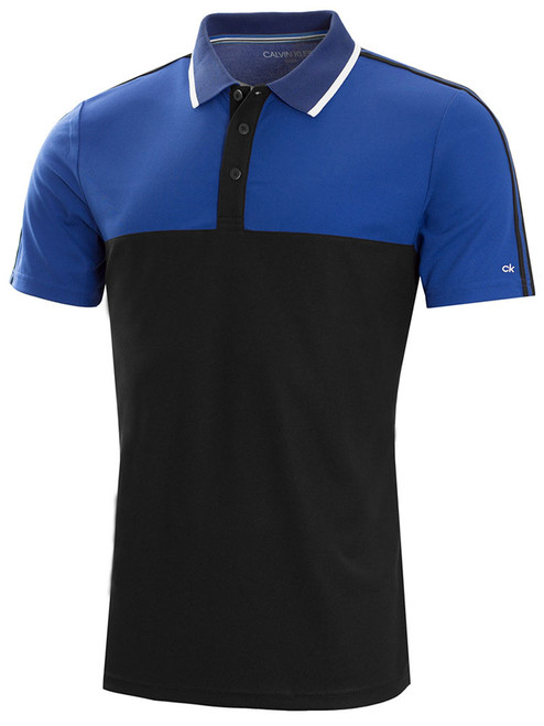 Calvin Klein Scope Polo - Black/Royal