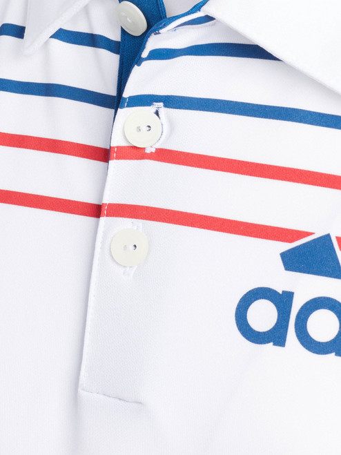 Adidas JR Badge of Sport Polo - White/Dark Marine