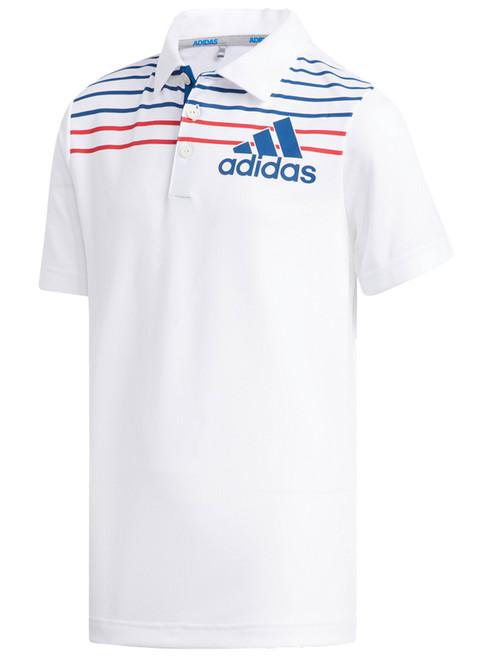 Adidas JR Badge of Sport Polo - White/Dark Marine