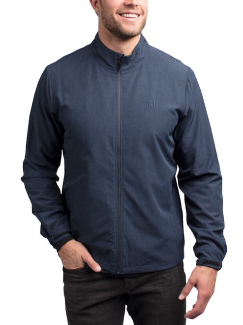 Travis Mathew Road Soda Jacket - Heather Blue Nights