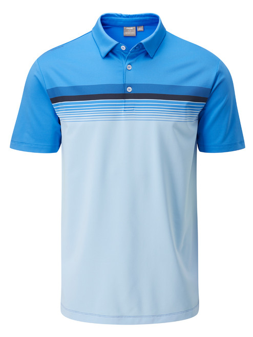 Ping Ridge Tailored Fit Polo - Sky Azure Multi