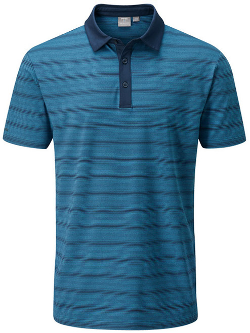 Ping Eugene Tailored Fit Polo - Navy Multi