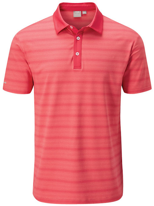 Ping Eugene Tailored Fit Polo - Iron Red Multi