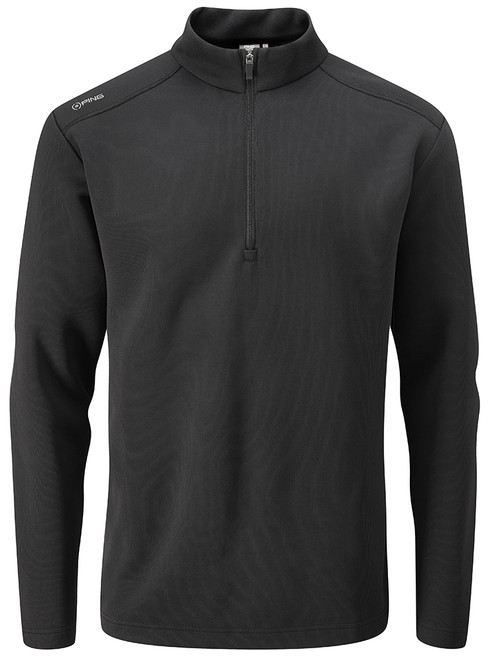 Ping Ramsey 1/2 Zip Ribbed Fleece - Black