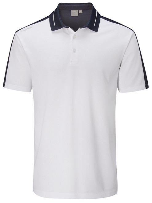 Ping Douglas Tailored Fit Polo - White/Navy