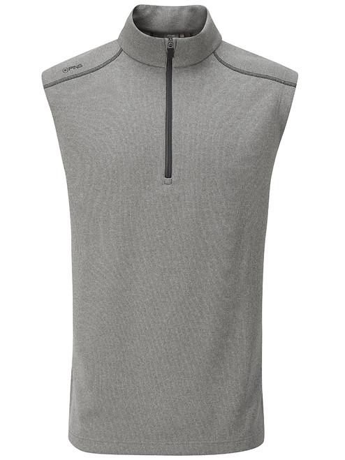 Ping Ramsey 1/2 Zip Ribbed Fleece Vest - Ash Marl