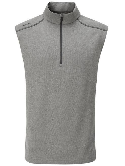 Ping Ramsey 1/2 Zip Ribbed Fleece Vest - Ash Marl