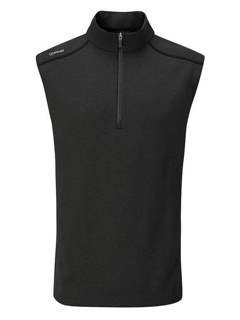 Ping Ramsey 1/2 Zip Ribbed Fleece Vest - Black