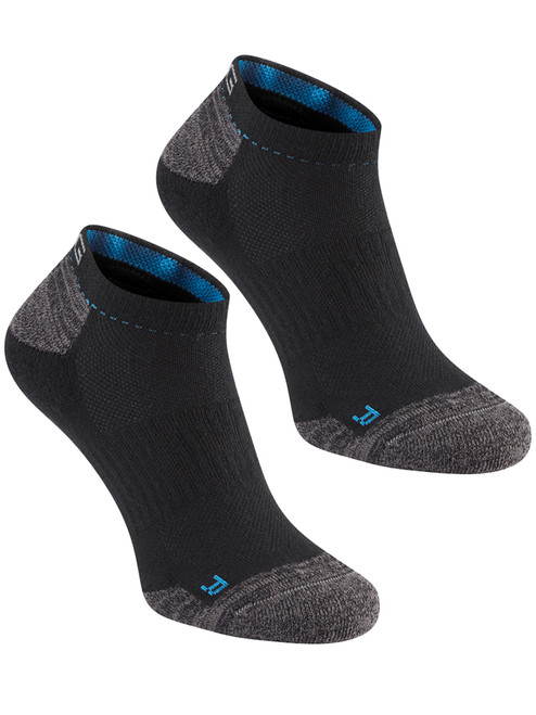 Ping SensorCool No Show 2 Pack Socks - Black