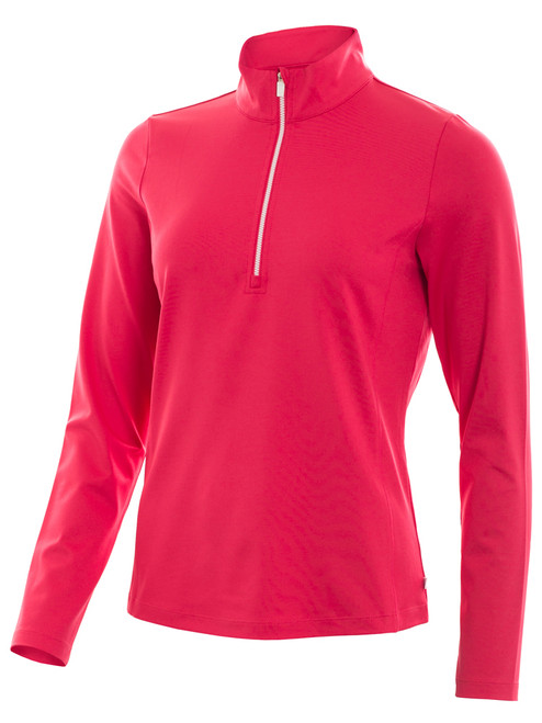 Calvin Klein W 1/4 Zip Tech Top - Punch Pink