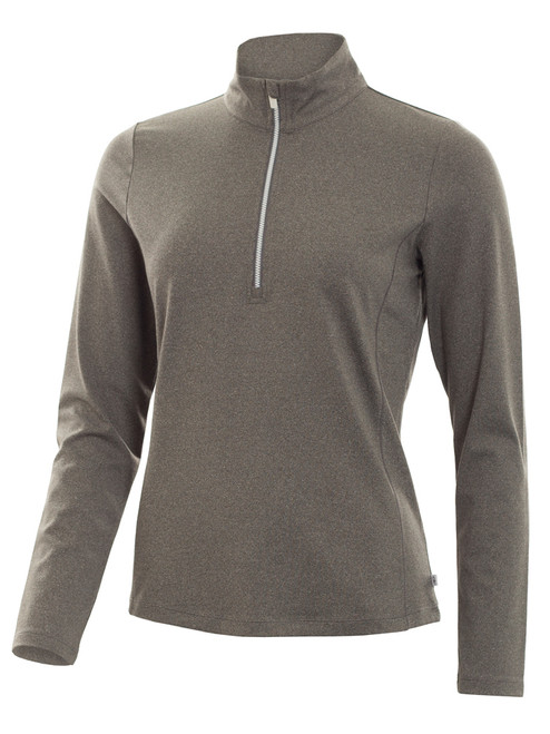 Calvin Klein W 1/4 Zip Tech Top - Silver