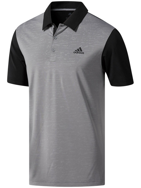 Adidas Ultimate365 Camo-Embossed Polo - Black/Grey Three F17