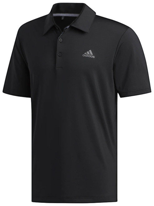 Adidas Ultimate365 Solid Polo - Black/Grey Four F17