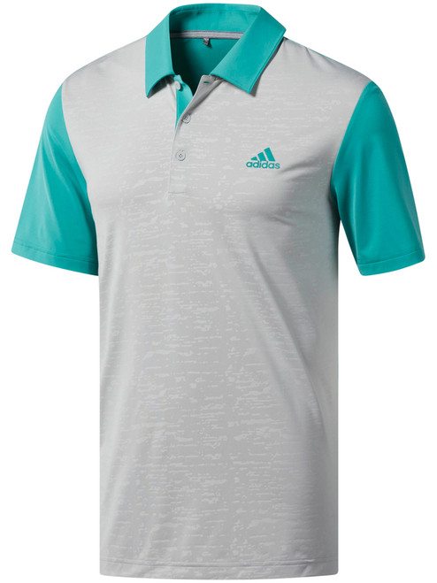 Adidas Ultimate365 Camo-Embossed Polo - True Green/Grey Two