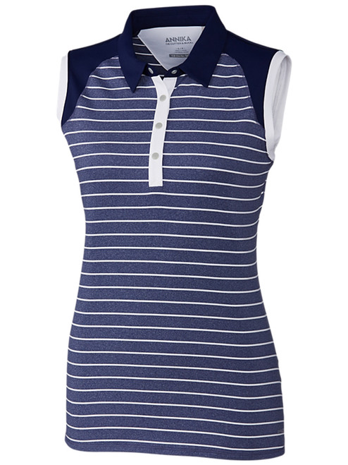 Annika W Trainer Sleeveless Polo - Atlantic