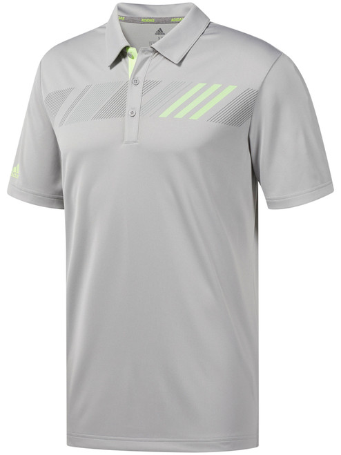 Adidas 360 Print Polo - Grey Two F17/Hi-Res Yellow