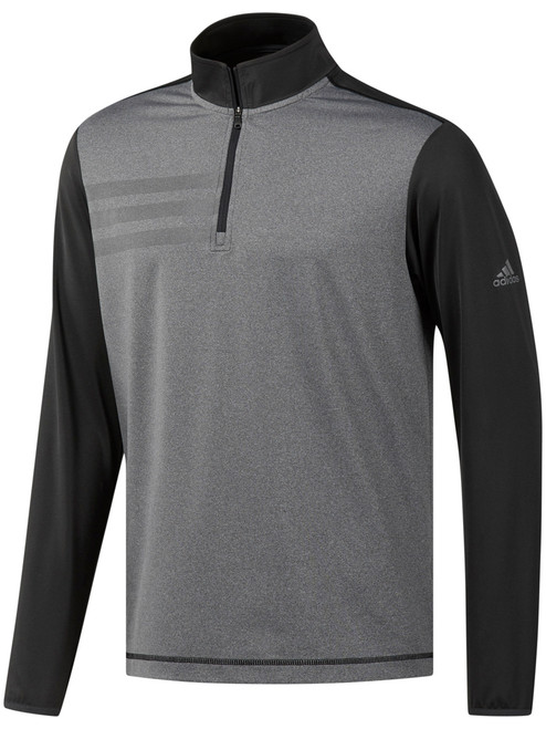 Adidas 3-Stripes Competition 1/4 Zip - Carbon/Black Heather