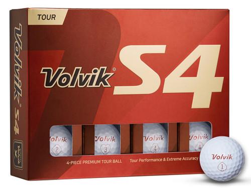 Volvik S4 2019 Golf Balls - 1 Dozen White